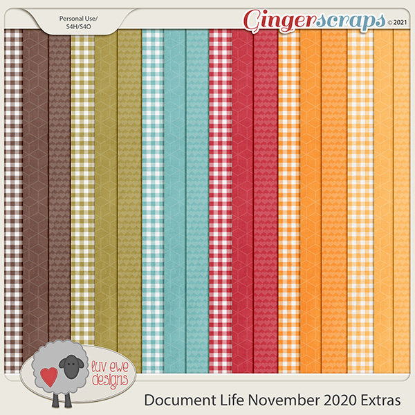 Document Life November 2020 Extra Papers by Luv Ewe Designs