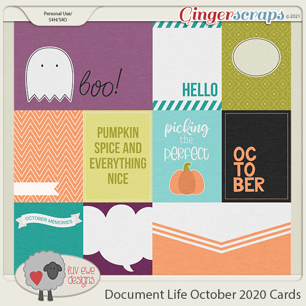 Document Life October 2020 Journal Cards by Luv Ewe Designs