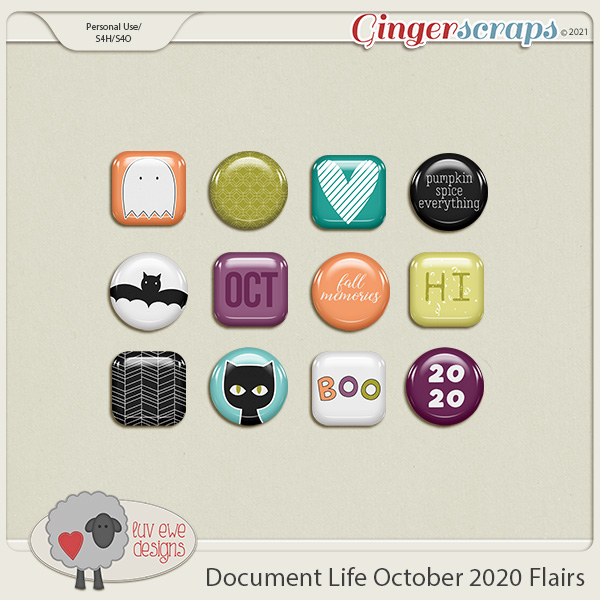 Document Life October 2020 Flairs by Luv Ewe Designs