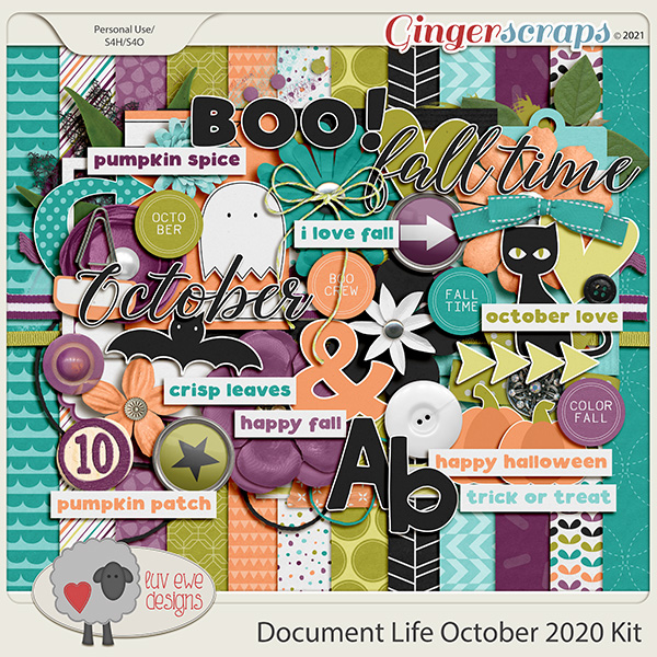 Document Life October 2020 Kit by Luv Ewe Designs