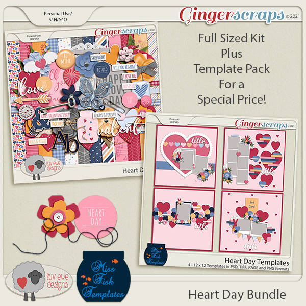 Heart Day Bundle by Luv Ewe Designs and Miss Fish Templates