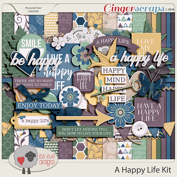 A Happy Life Kit by Luv Ewe Designs