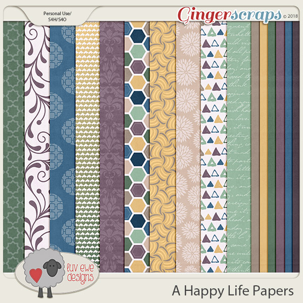 A Happy Life Papers by Luv Ewe Designs