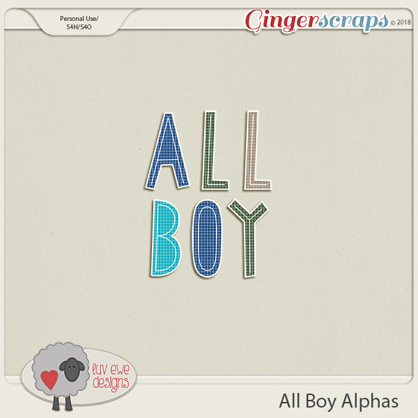 All Boy Alphas by Luv Ewe Designs