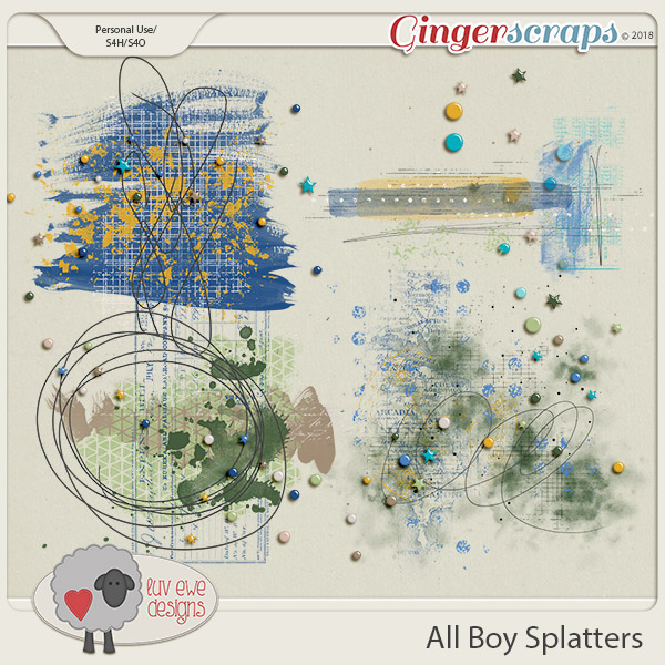 All Boy Splatters by Luv Ewe Designs