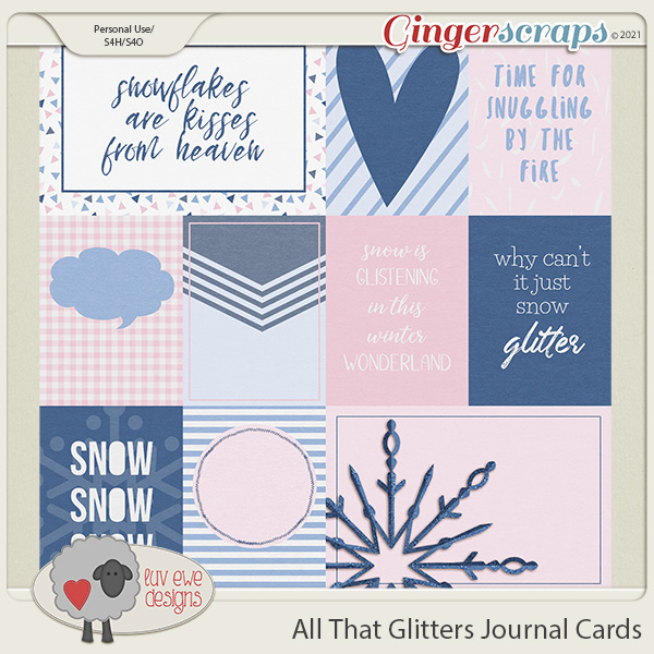 All That Glitters Journal Cards by Luv Ewe Designs