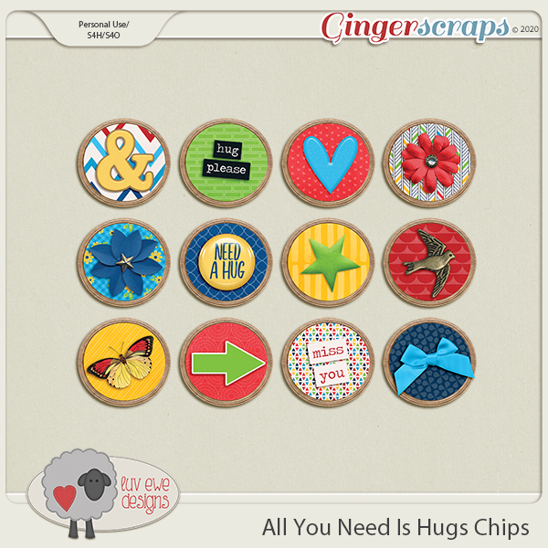 All You Need Is Hugs Chips by Luv Ewe Designs