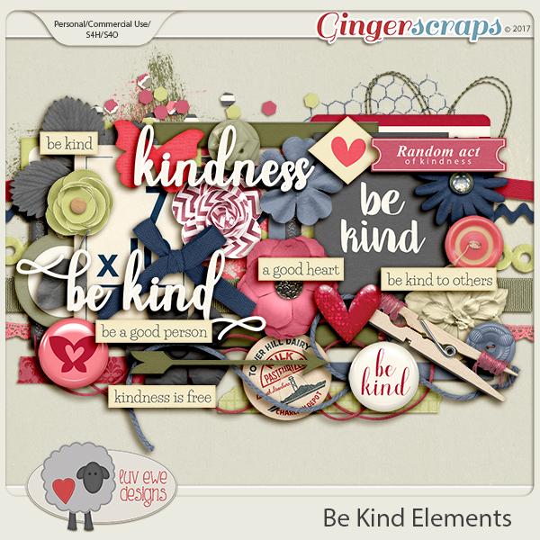 Be Kind Elements by Luv Ewe Designs