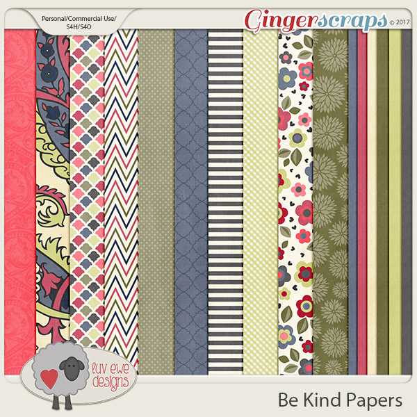 Be Kind Papers bt Luv Ewe Designs