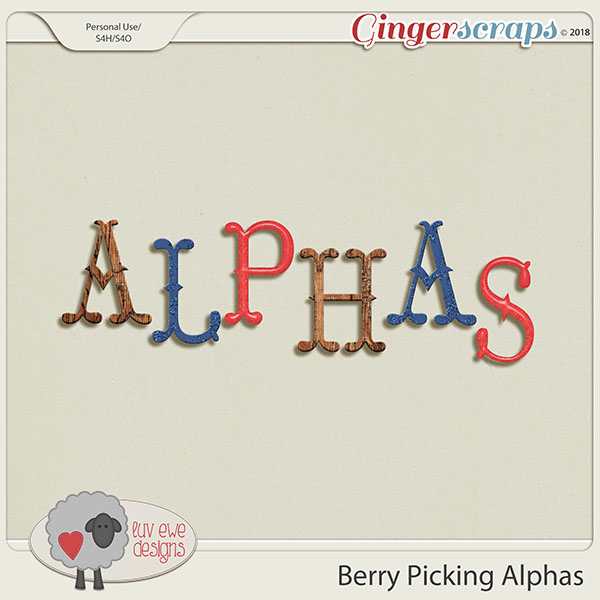 Berry Picking Alphas by Luv Ewe Designs