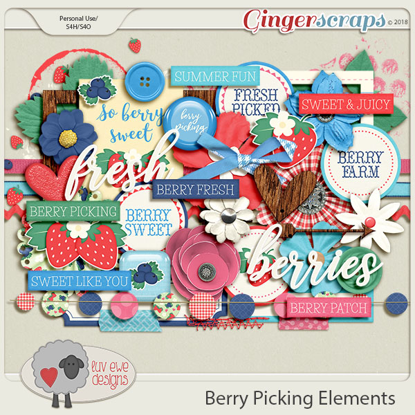 Berry Picking Elements by Luv Ewe Designs
