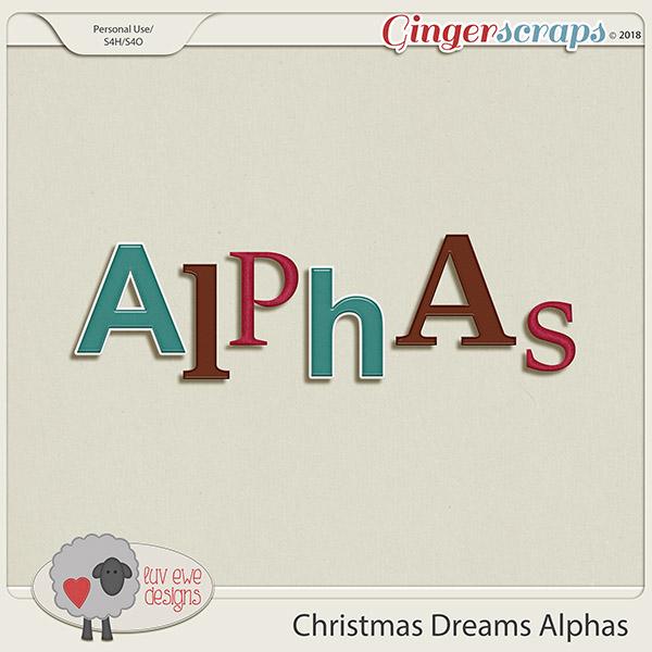 Christmas Dreams Alphas by Luv Ewe Designs