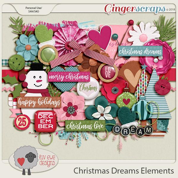 Christmas Dreams Elements by Luv Ewe Designs