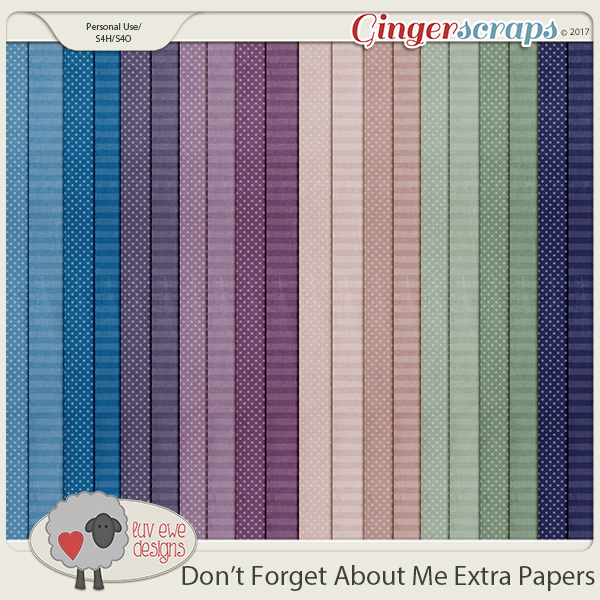 Don't Forget About Me Extra Papers by Luv Ewe Designs