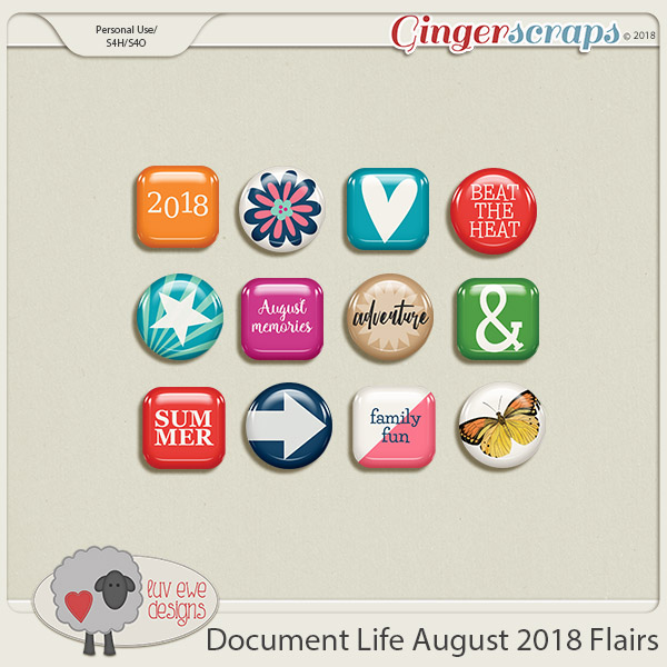 Document Life August 2018 Flairs by Luv Ewe Designs