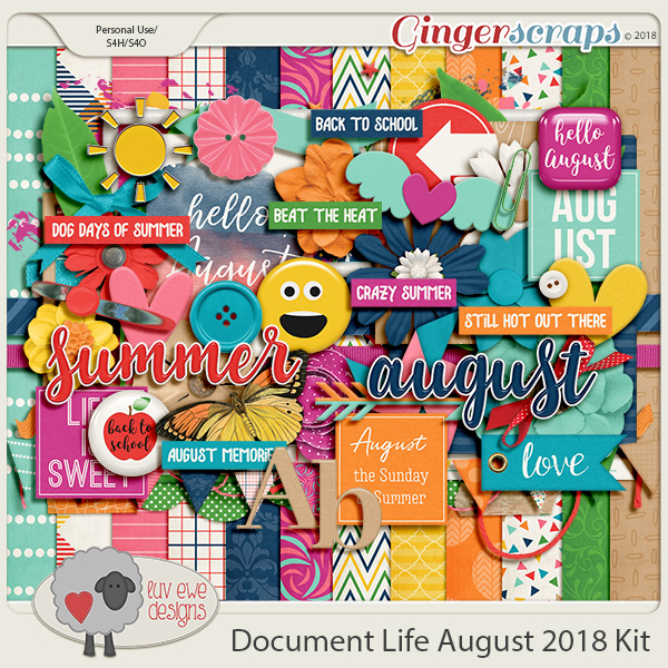 Document Life August 2018 Kit by Luv Ewe Designs