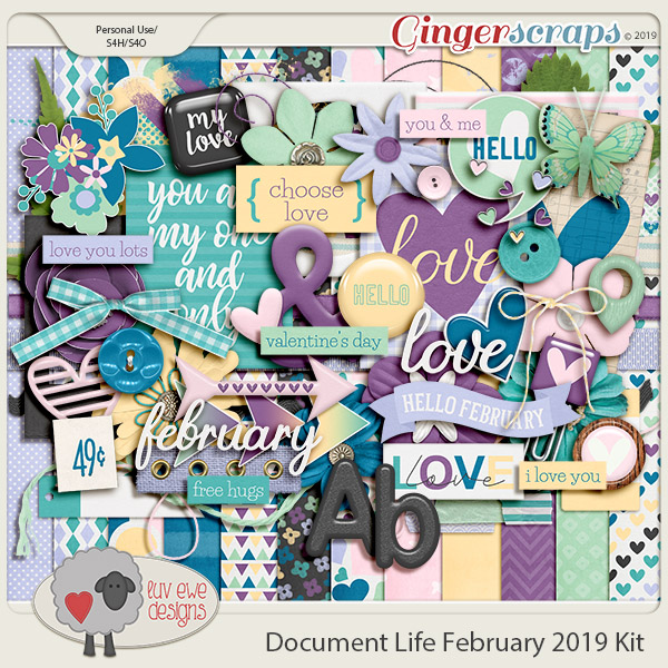 Document Life February 2019 Kit by Luv Ewe Designs