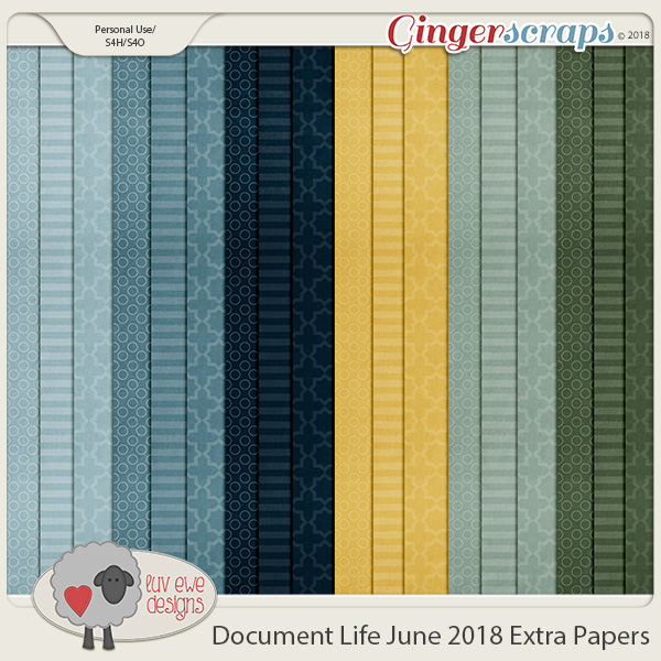 Document Life June 2018 Extra Papers by Luv Ewe Designs