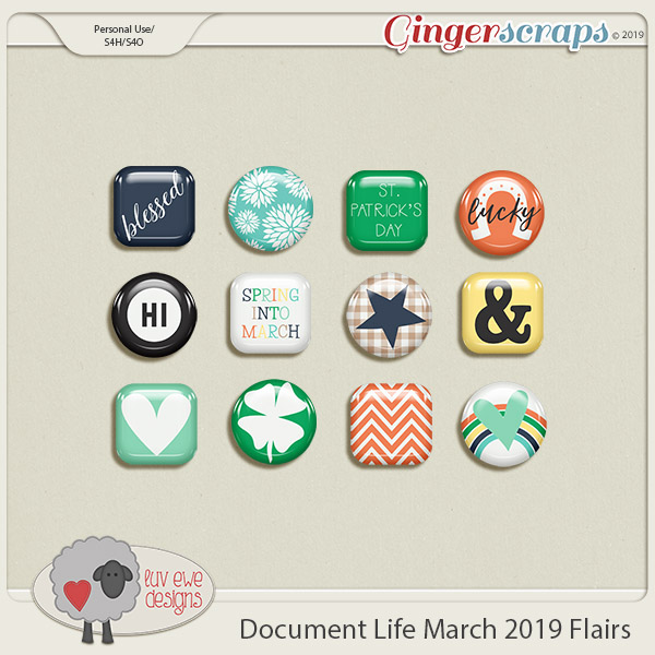 Document Life March 2019 Flairs by Luv Ewe Designs