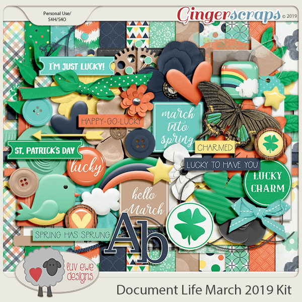Document Life March 2019 Kit by Luv Ewe Designs