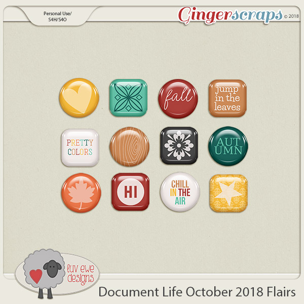 Document Life October 2018 Flairs by Luv Ewe Designs