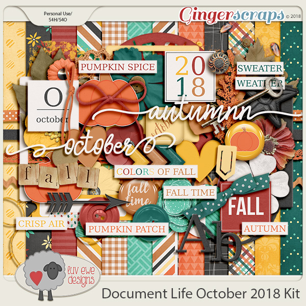 Document Life October 2018 Kit by Luv Ewe Designs