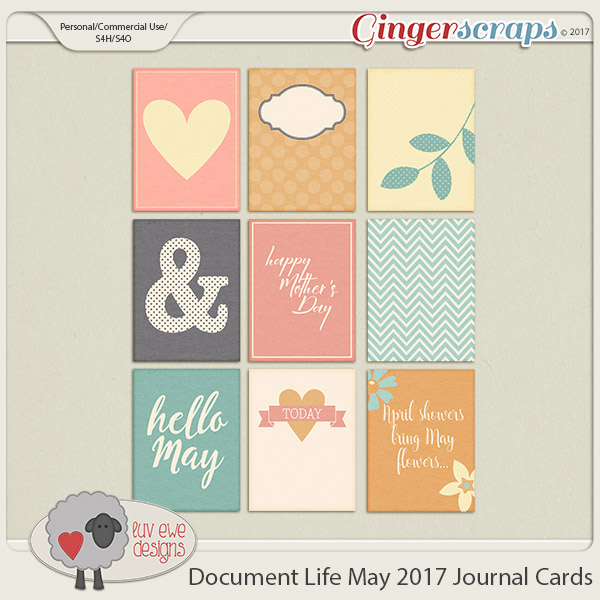 Document Life May 2017 Cards by Luv Ewe Designs