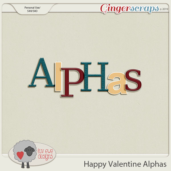 Happy Valentine Alphas by Luv Ewe Designs