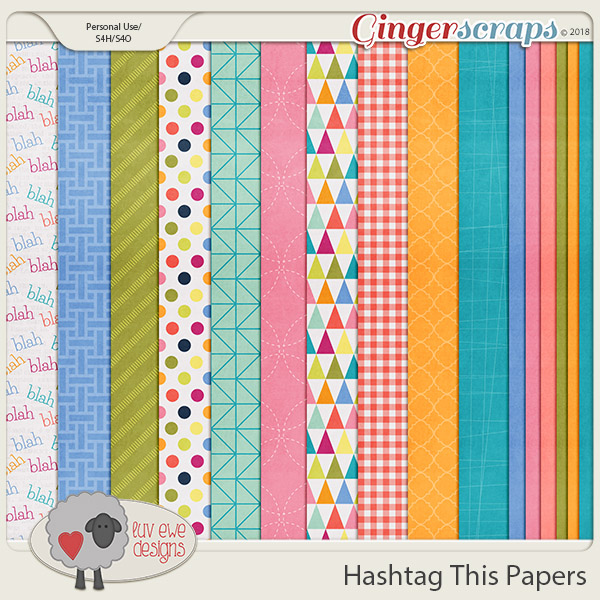 Hashtag This Papers by Luv Ewe Designs