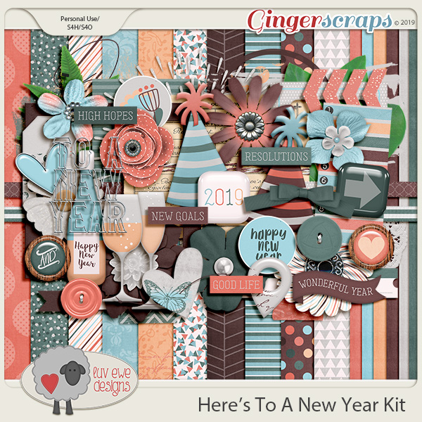 Here's To A New Year Kit by Luv Ewe Designs