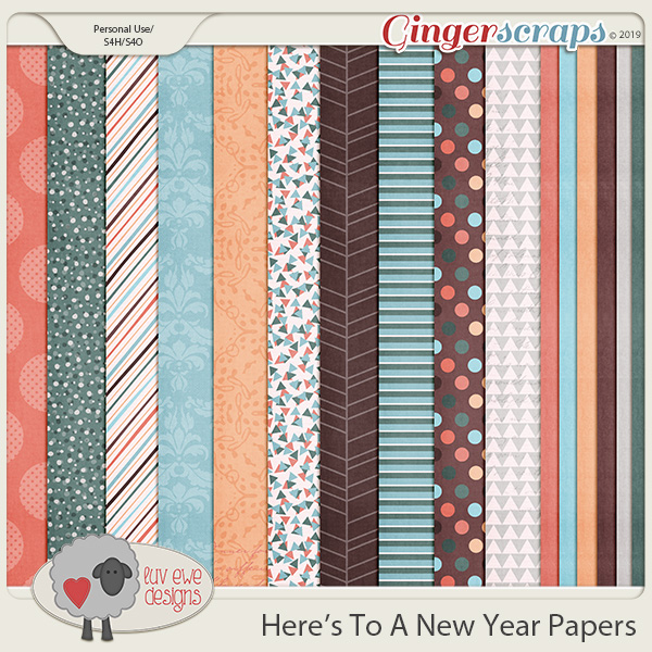 Here's To A New Year Papers by Luv Ewe Designs