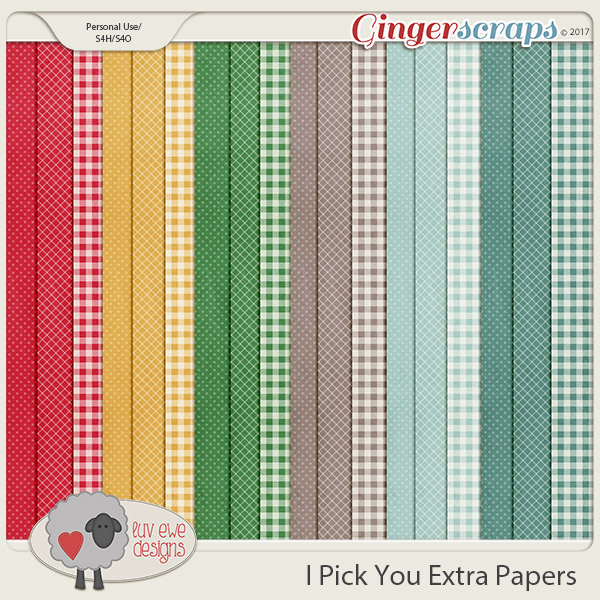 I Pick You Extra Papers by Luv Ewe Designs