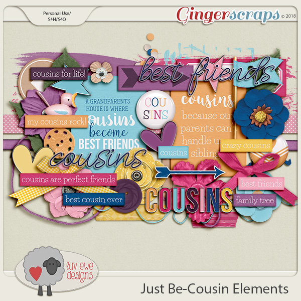 Just Be-Cousin Elements by Luv Ewe Designs
