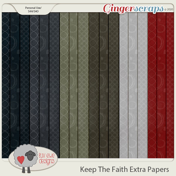 Keep The Faith Extra Papers by Luv Ewe Designs