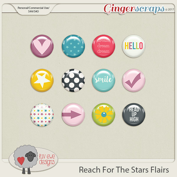 Reach For the Stars Flairs by Luv Ewe Designs