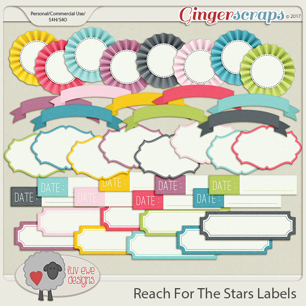 Reach For The Stars Labels by Luv Ewe Designs
