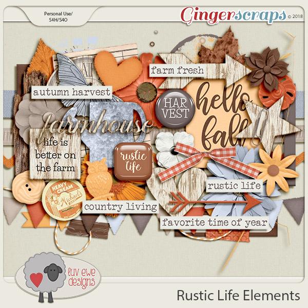 Rustic Life Elements by Luv Ewe Designs