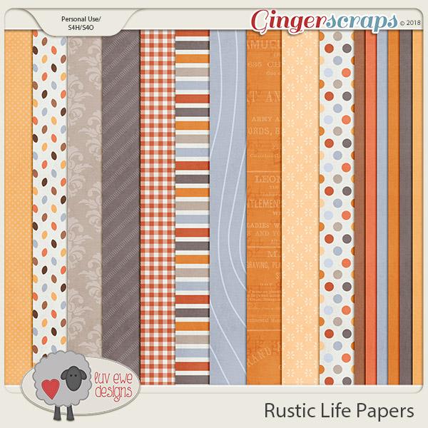 Rustic Life Papers by Luv Ewe Designs