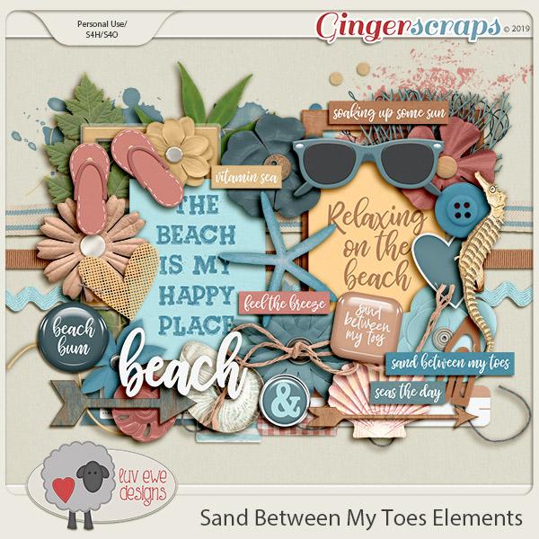 Sand Between My Toes Elements by Luv Ewe Designs