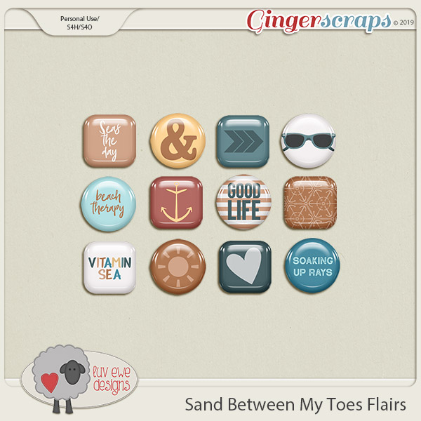 Sand Between My Toes Flairs by Luv Ewe Designs