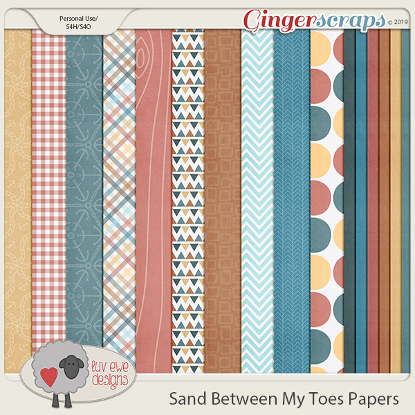 Sand Between My Toes Papers by Luv Ewe Designs