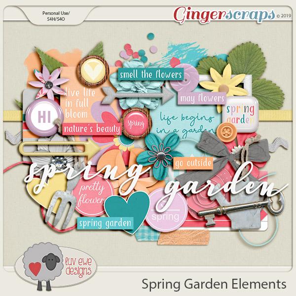 Spring Garden Elements by Luv Ewe Designs