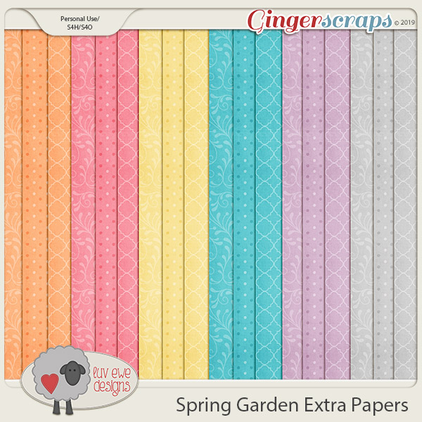Spring Garden Extra Papers by Luv Ewe Designs