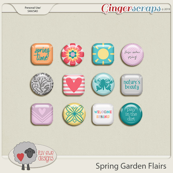 Spring Garden Flairs by Luv Ewe Designs