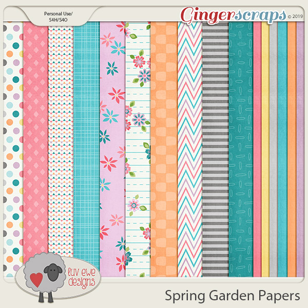 Spring Garden Papers by Luv Ewe Designs