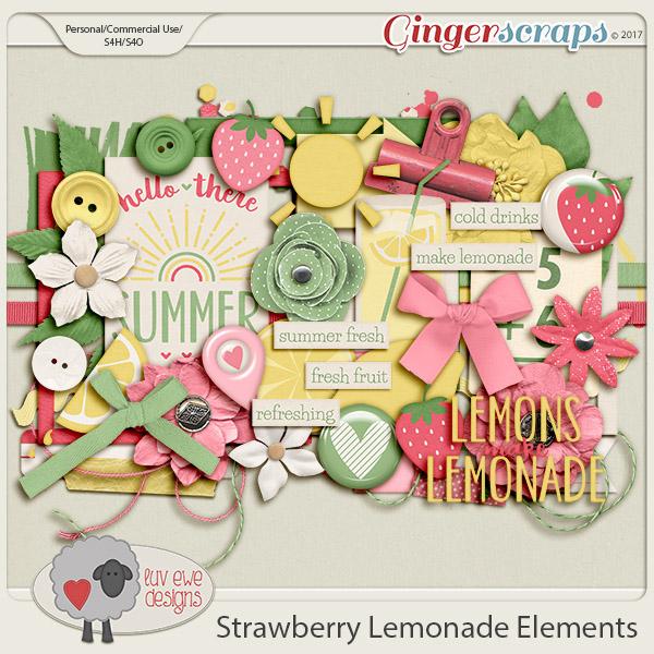 Strawberry Lemonade Elements by Luv Ewe Designs