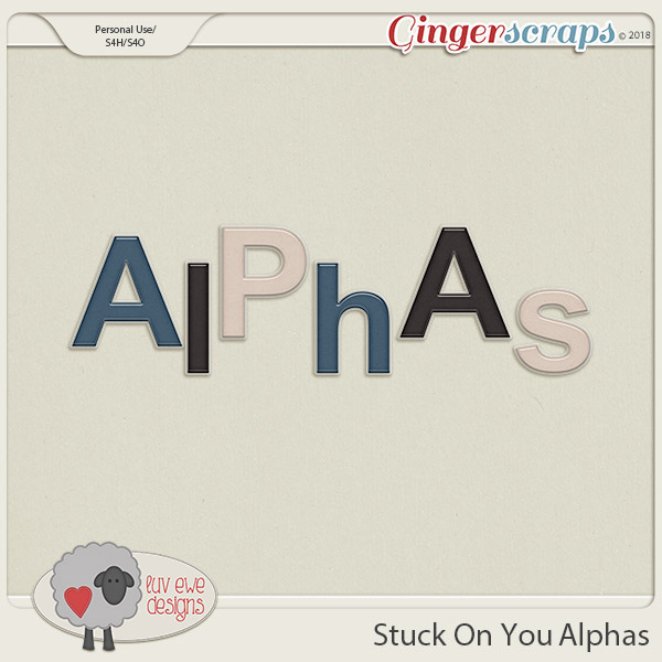 Stuck On You Alphas by Luv Ewe Designs