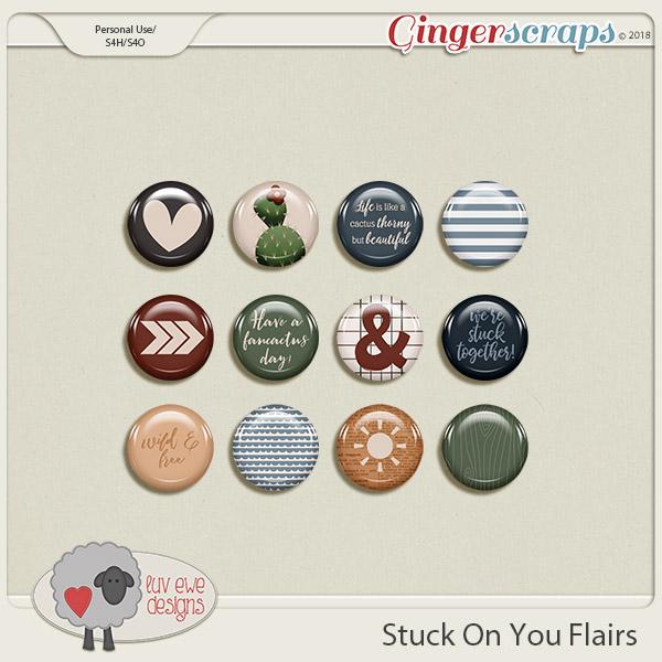Stuck On You Flairs by Luv Ewe Designs