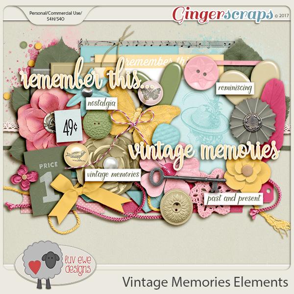 Vintage Memories Elements by Luv Ewe Designs
