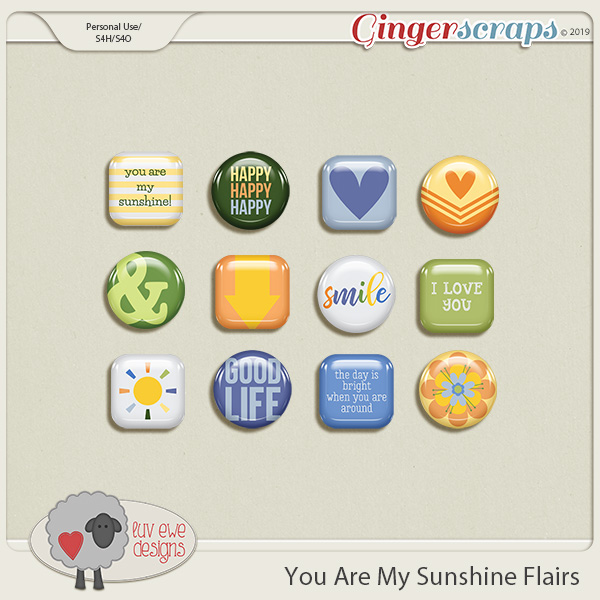 You Are My Sunshine Flairs by Luv Ewe Designs